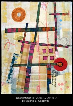 Destinations - Cartographic Art Quilt created by Valerie Goodwin, 2008