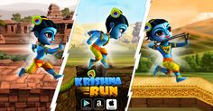 Jump, slide,dodge obstacles, collect gems & enjoy an adventurous run while shooting enemies in 36  challenging stages in this top krishna adventure game. hyperurl.co/krishasmm #gamedev #freetoplay