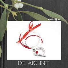 Spell on You ❅ collection mistletoe leaves transformed into a silver and coral jewel Mistletoe, Spelling, Jewelery, Coral, Leaves, Wreaths, Contemporary, Silver, Collection