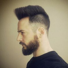 #Flattop spikes with an #undercut fade.