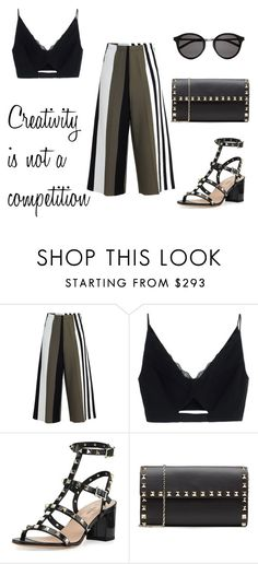 """""""Creativity is not ..."""" by alex-hllnz on Polyvore featuring moda, Circus Hotel, Versace, Valentino y Yves Saint Laurent"""