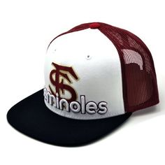 NCAA Florida State Seminoles Men's Word Up Adjustable Snapback Cap (White, One Size) by Top of the World. $10.86
