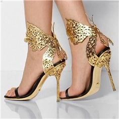 Patchwork Flying Butterfly Stiletto Sandals