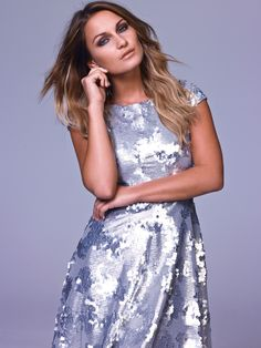We love this mirror shine silver sequin dress from Samantha Faier's collection for Very UK. Think party-ready pieces like dresses, jumpsuits and cute cp-ords. The collection is available from 30th October #samfaiers