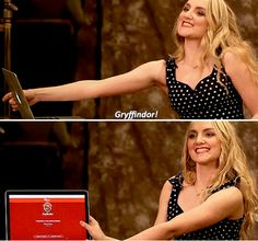 Evanna Lynch sorted on Pottermore - Gryffindor!