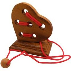 Heart String Wooden Brain Teaser Puzzle