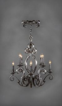 Cordoba vintage wrought iron chandelier 12 light cordoba vintage wrought iron chandelier 8 light aloadofball Image collections