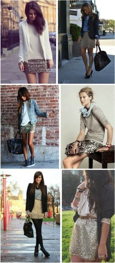 all that glitters | how to rock a sequin skirt day to night