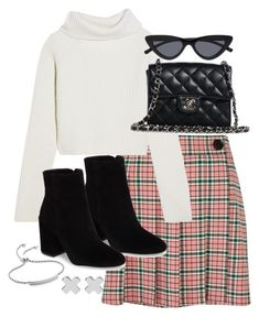 """Untitled #5418"" by theeuropeancloset on Polyvore featuring Vince Camuto, Haider Ackermann, Chanel, Monica Vinader and Witchery"