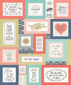 Riley Blake Designs, Heart and Soul Fabric Panel-Heart Digital Quilt Top-Multi