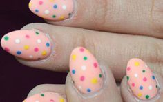 polka dot summer nail art  14 Art Ideas You Need To Try This Summer