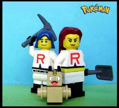 That's just making fun of team rocket Lego Pokemon, Pokemon Craft, Poppy Parker, Lego Projects, Team Rocket, Lego Sets, Gifts For Boys, Legos, Kids Playing