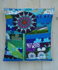 lolly flower vintage fabric applique patchwork by modflowers, £20.00