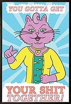 Frame USA is proud to present BoJack Horseman - Princess Carolyn . BoJack Horseman is an American adult animated sitcom created by Raphael Bob-Waksberg. Otaku, Bojack Horseman, Cartoon Memes, Nerd Geek, Wall Collage, Poster Prints, Posters, Nerdy, You Got This