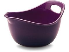 Eggplant Mixing Bowl - with a handle for easy mixing.