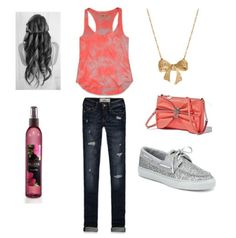 Polyvore outfits :) I like the Sperrys and the top.