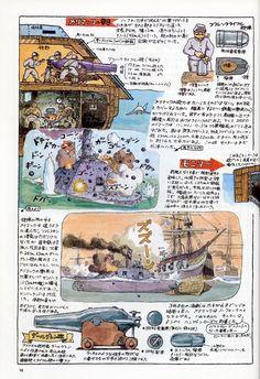 宫崎骏手稿