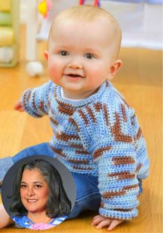 Learn to crochet this baby pullover sweater, its easy and fun. This is a pattern that was on the Redheart.com website. It is pattern # LT1818. The designer i...