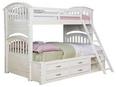 White Bunk bed as good Idea for Bed design: White bunk beds twin over full