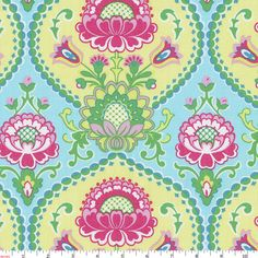 Aqua Lavinia Fabric By The Yard