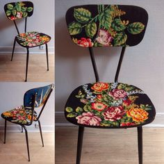 Chaise fleurs