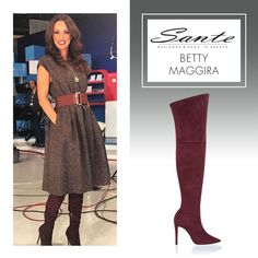 Betty Maggira in SANTE Over-the-knee Boots #BuyWearEnjoy #CelebritiesinSante Available in stores & online: www.santeshoes.com