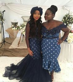 Shweshwe Dresses South Africa Styles For Woman - Pretty 4 African Wedding Attire, African Attire, African Fashion Dresses, African Dress, African Wear, African Women, African Clothes, African Style, South African Traditional Dresses