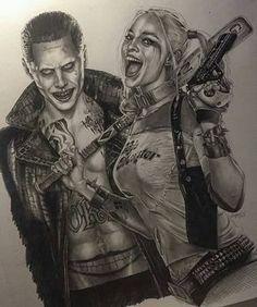 Harley and Joker pencil drawing by @tonysklepictattoo #artistinspired #theartisthemotive . by worldofpencils