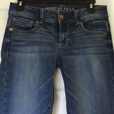 American Eagle Bootcut Jeans American Eagle jeans in medium wash, Bootcut, regular length, low-rise, size 4. Non-smoker. I've worn these 5 or less times, so they are LIKE NEW. Bootcut wasn't my thing ;) American Eagle Outfitters Jeans Boot Cut