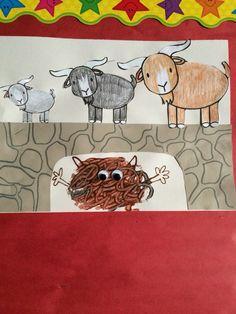The Three Billy Goats Gruff Nursery Rhymes Preschool art