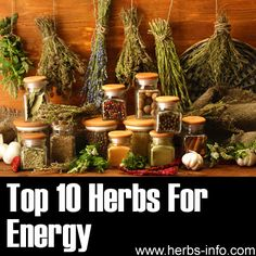 ❤ Herbs for Energy ❤ This is great list, we include many of these ingredients in our list like Ginseng, Ashwagandha, and Rhodiola