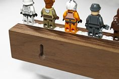 "Lego Display / Storage Shelf for 25 Figures / Minifigs, Solid American ""Black"" Walnut, by Chroble"