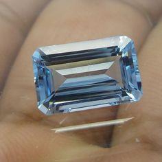 3.3 Carat 11.5x7.5 MM Majestic Blue Aquamarine Octagon Cut Stone HAQ14 #Unbranded