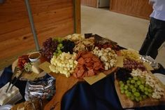 When we cater a meat and cheese tray, we only buy and use the best products. We use Emerald Valley Artisan Cheeses, imported salami, soppressetta and buy the freshest ripest fruit. We make our grain mustard, our crostini, our bruschetta mixture and more in house for a meat and cheese tray that is high end, glorious and works with any great gathering.