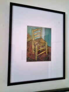 Van Gogh's Chair. Souvenir print, National Gallery, London. 8 x 10