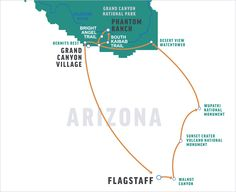 itinerary for rim to river at the Grand Canyon