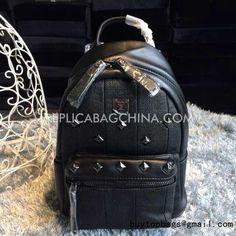 MCM Salmon Grain Gun Color Cow Leather Backpack  MCM Backpack