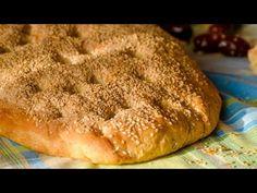 Λαγάνα Τραγανή Αφράτη και Σουσαμένια! - YouTube Greek Pita, Pita Recipes, Mykonos Island, Bread Mix, Dumplings, Tasty Dishes, Banana Bread, Desserts, Lent