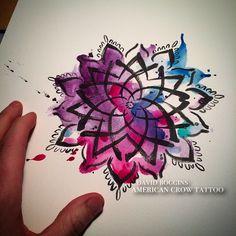 watercolour mandala - Google Search                                                                                                                                                     Mais