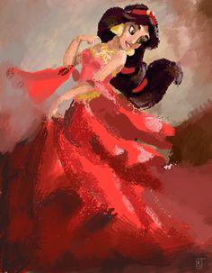 Jasmine in Red by *Lazulina on deviantART