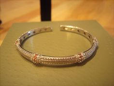 Judith Ripka Citrine and Sterling Silver Hinged Cuff Bracelet. Maybe I'll add this one to my others.