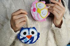 Cute Felt Craft - Owl Key Covers for Boys and Girls