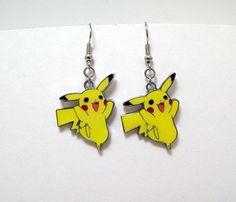 Pikachu earrings, Pokemon, earrings, anime, cartoon, jewelry, geek, geeky, $8.00