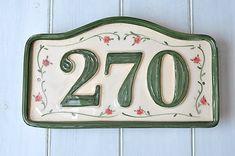 gemmifer / Číslo domu z keramiky