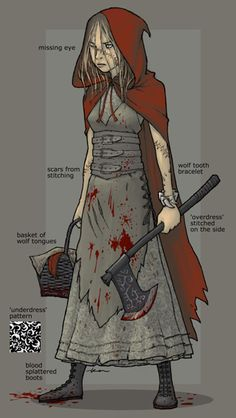 little red riding hood's ready for revenge. (Ken Wong : Illustration & Design Portfolio)