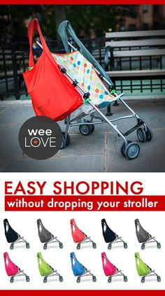 A shopping bag that won't upend your stroller (and tot!)