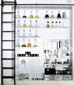 Love the idea of displaying oils in beakers