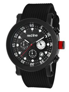 Men's Compressor Chronograph Black Watch by Red Line at Gilt
