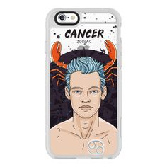 Cancer - iPhone 6s Case,iPhone 6 Case,iPhone 6s Plus Case,iPhone 6... ($40) ❤ liked on Polyvore featuring accessories, tech accessories, iphone case, iphone cases, clear iphone cases, apple iphone cases and iphone hard case