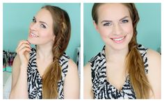 How to do a Fishtail Braided side PonyTail. This is such a summery hairstyle. I'm gonna have to try it out. #hair #tutorial #fishtail